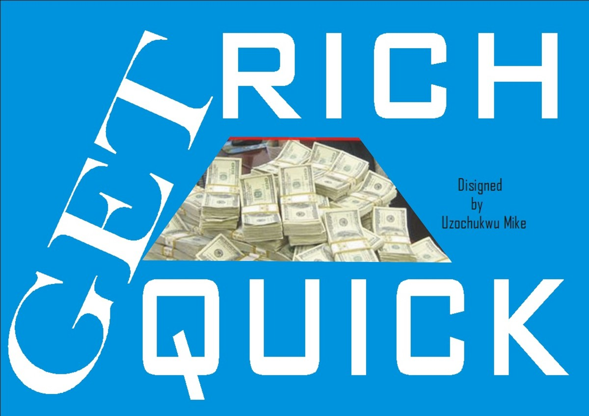 Get rich quick. A picture that explains the topic.