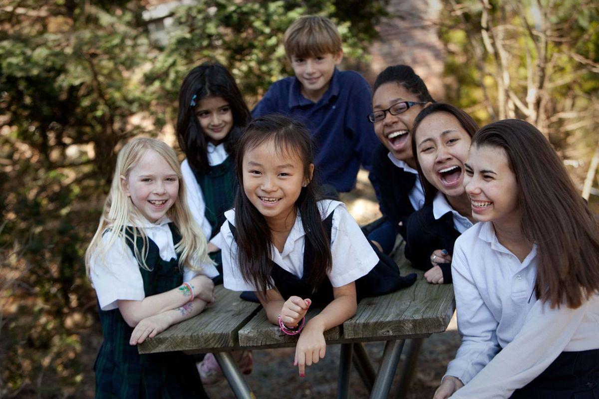 Children who attend Oak Knoll School.