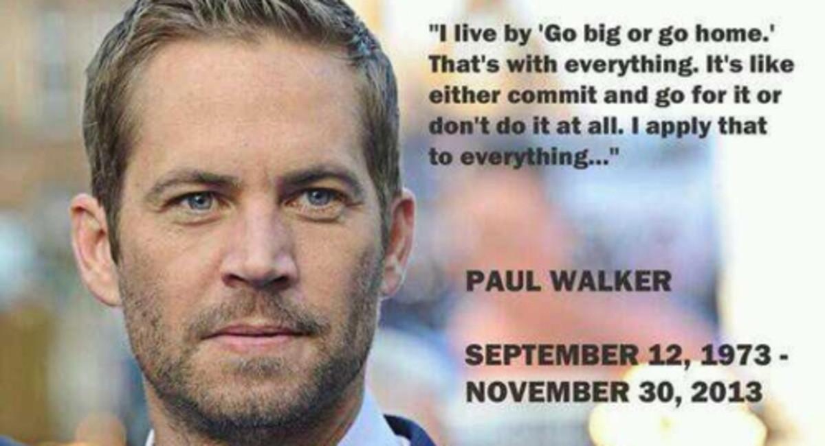 Rest in Peace Paul Walker. September 12, 1973 - November 30, 2013