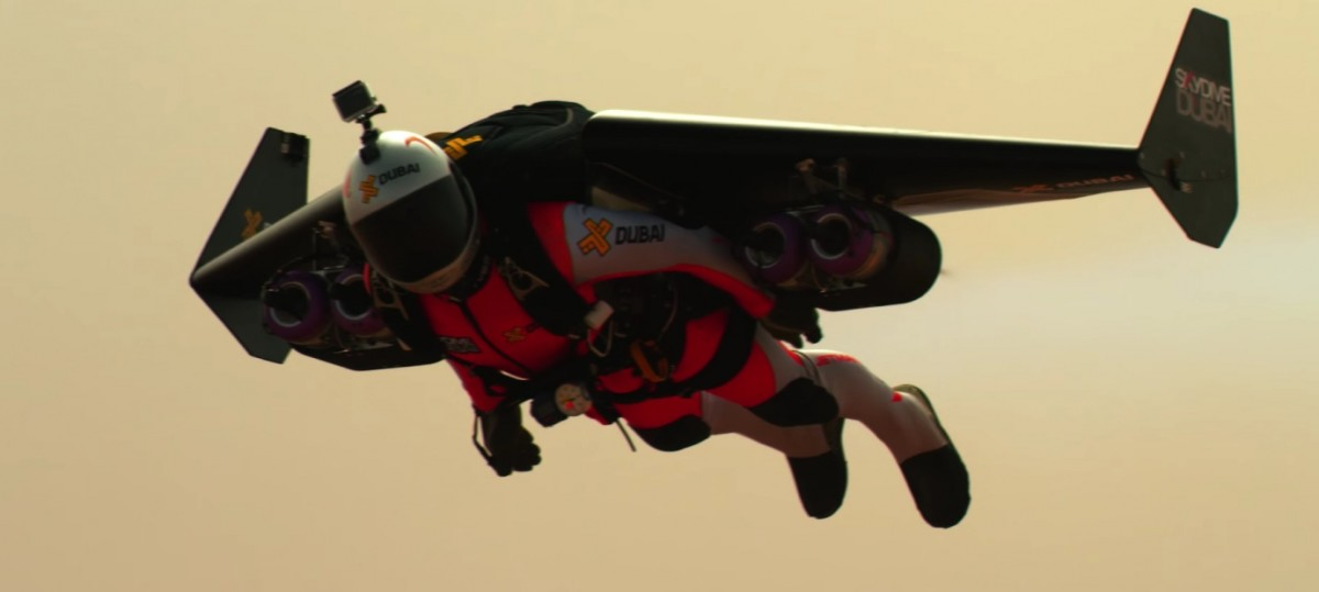 Yves Rossy, jumping out of a Plane and flying around the Skies of Dubai with Jetpacks that look like small miniature Jet Planes. Now that's Inspirational!