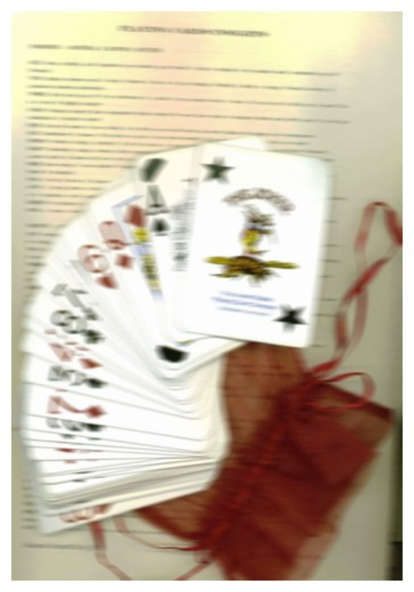 Playing cards, carrying bag and one-sheet, neatly formatted guide are available for purchase. Please feel free to contact me if interested.