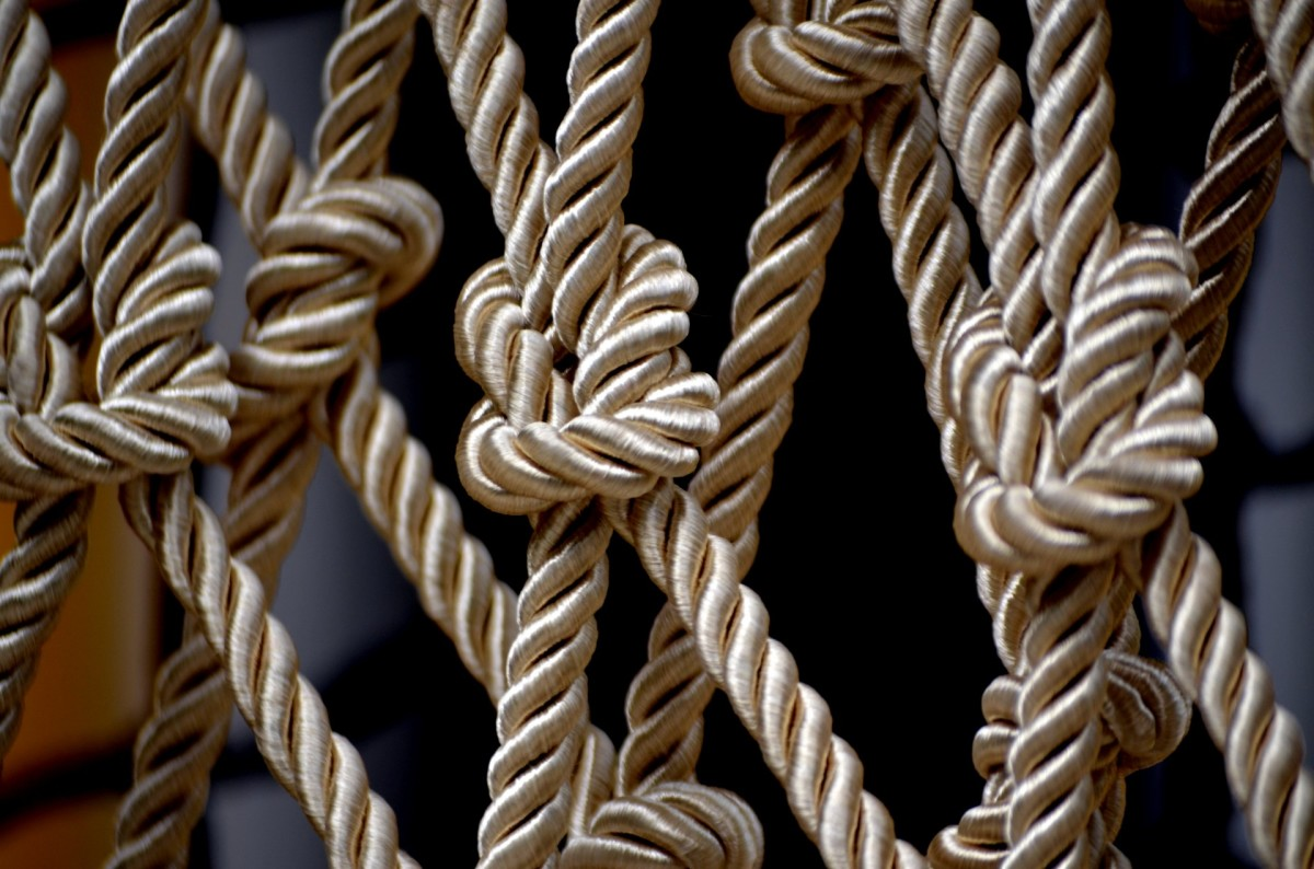 Knots are the earliest form of the lock. In ancient times people tied up their personal belongings using their own unique knot, which could only be undone with a tool unique to the owner.