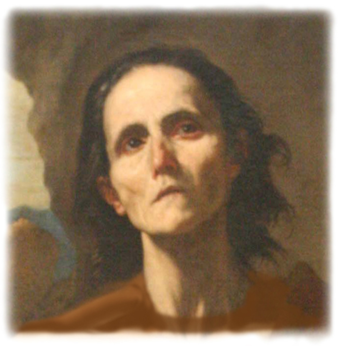 This painting depicts St. Mary as an old ascetic.