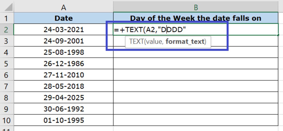 Formula: +text(value,format_text)