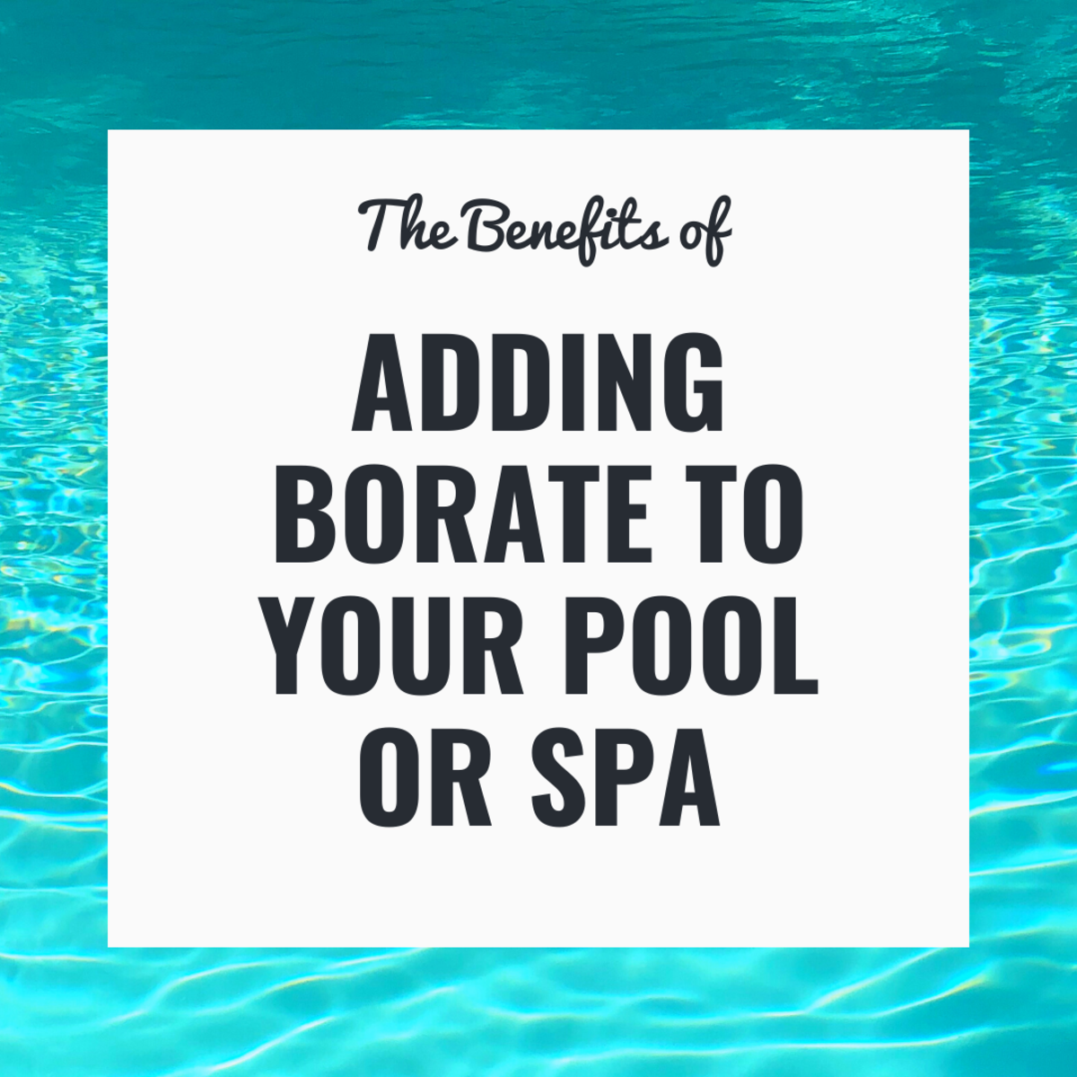 Borate prevents pH drifting, which results in calcium scaling, metal stains, cloudy water, algae, and hard pool water.