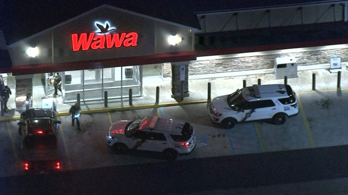 Police respond to an incident at Wawa