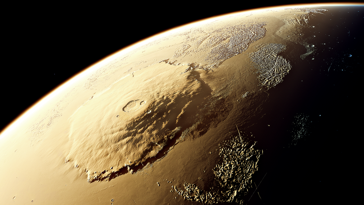 It is hard to truly understand the scale of Olympus Mons, the largest mountain in the solar system.