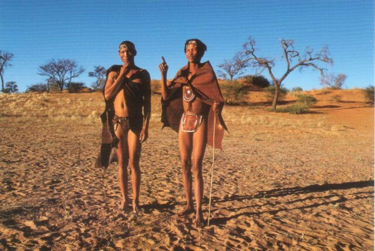 San Bushman in traditional clothing