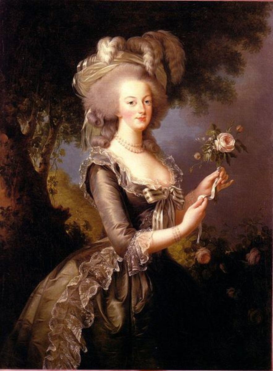 A famous portrait of Marie-Antoinette by lisabeth-Louise Vige-Le Brun.