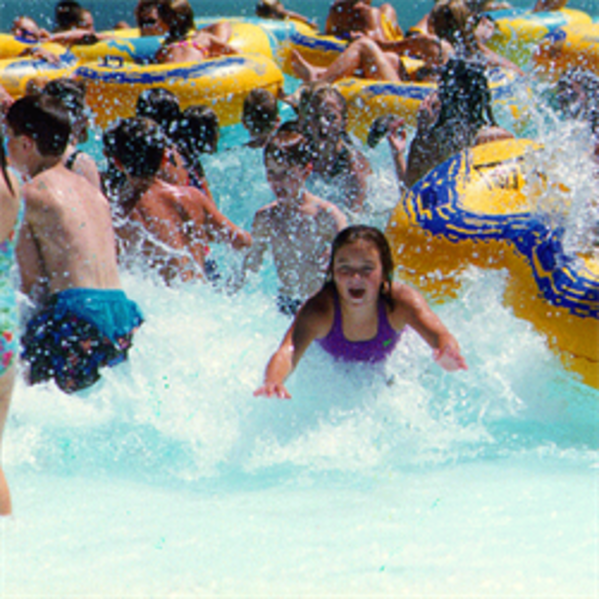 Island oasis outdoor water park in Nebraska