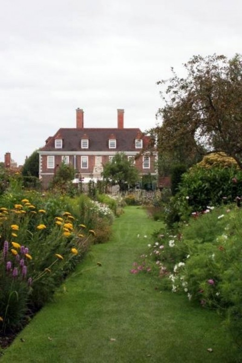 The Salutation manor house and a small part of the Secret Gardens.