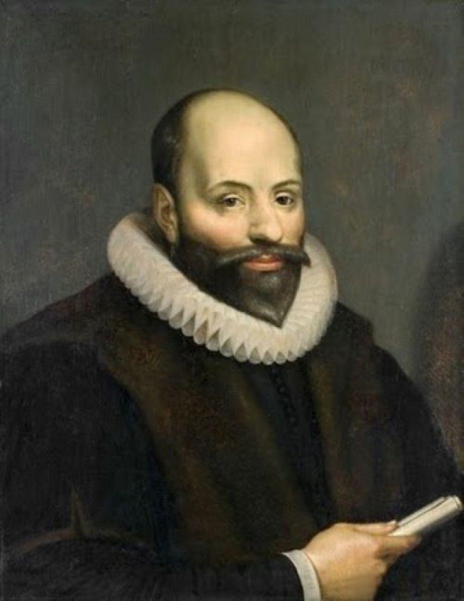 Famous portrait of Jacobus Arminius.