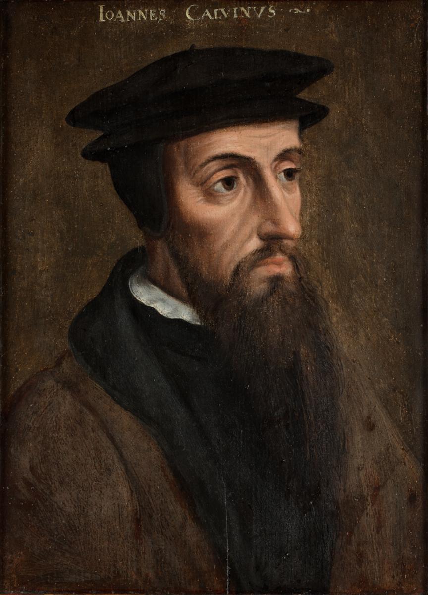 Famous portrait of John Calvin.