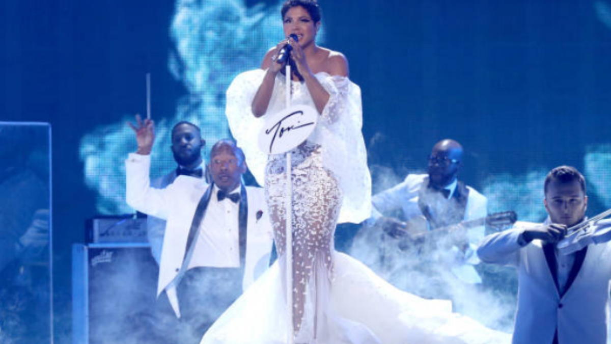 90's artist Toni Braxton performs during the Soul Train Awards in 2019