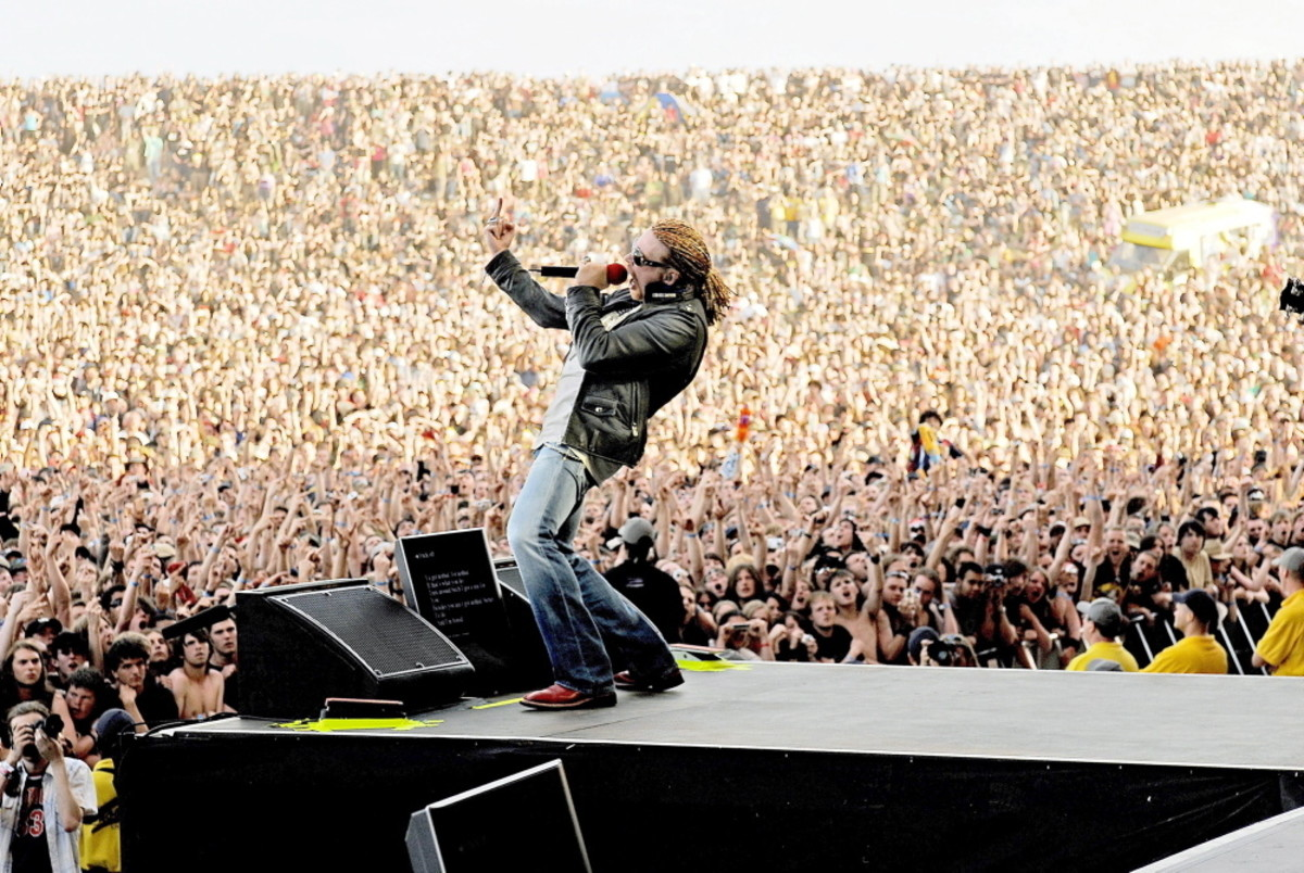 Rock band Guns N' Roses perform in London at a past event