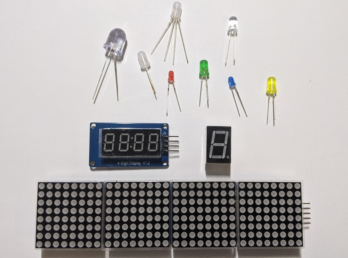 Light-emitting diodes come in many types, colours, and sizes.