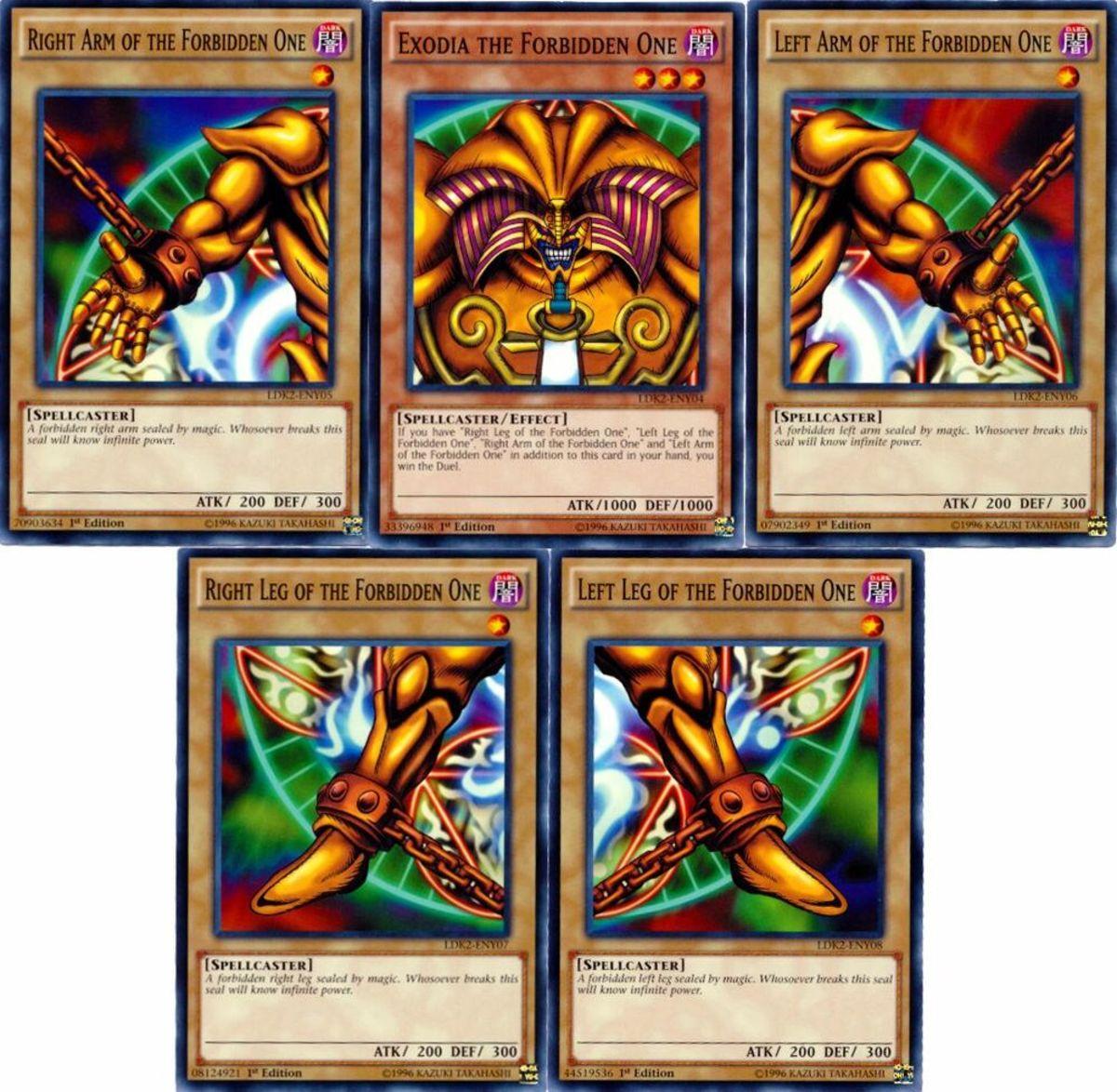 All five Exodia pieces
