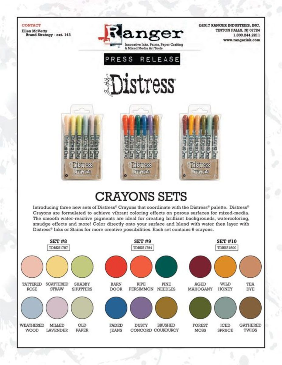 These are vibrant color combinations is distress color sets