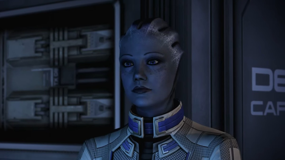"""Liara as she appeared in the legendary edition of """"Mass Effect."""""""