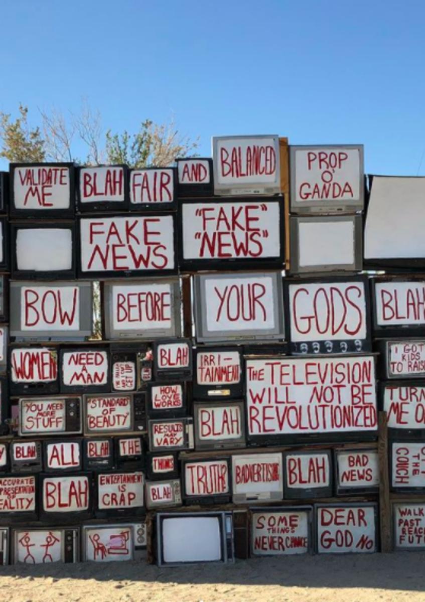 Art found in Slab City, CA.