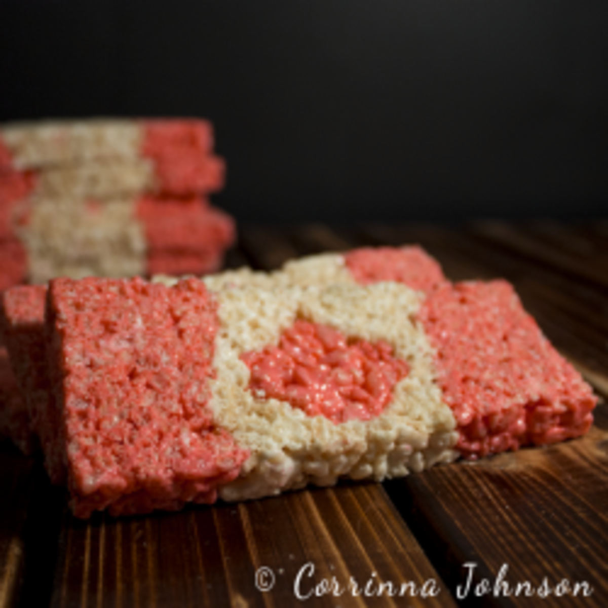 Canadian Flag Rice Krispies Treats