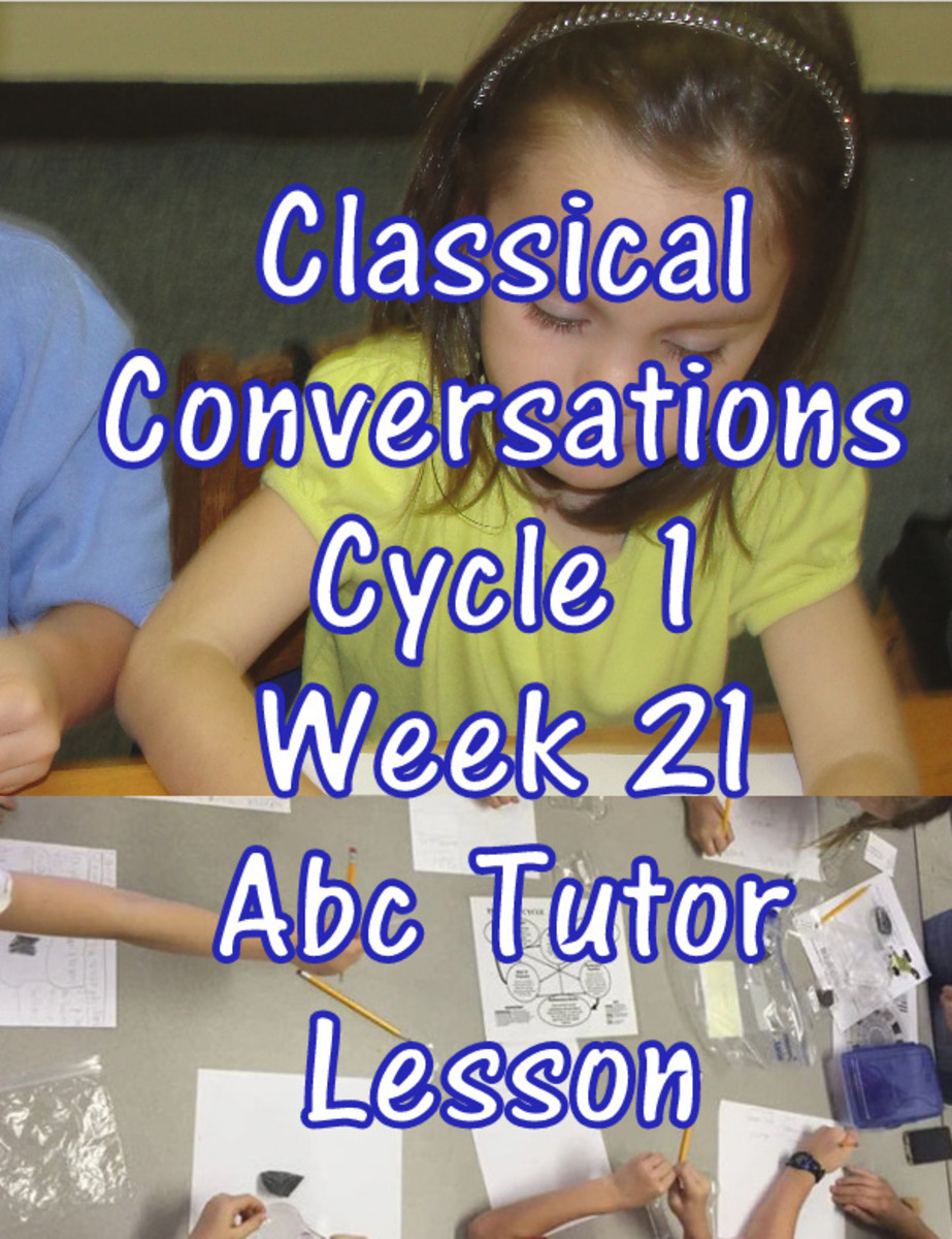 Classical Conversations CC Cycle 1 Week 21 Abc Tutor Lesson