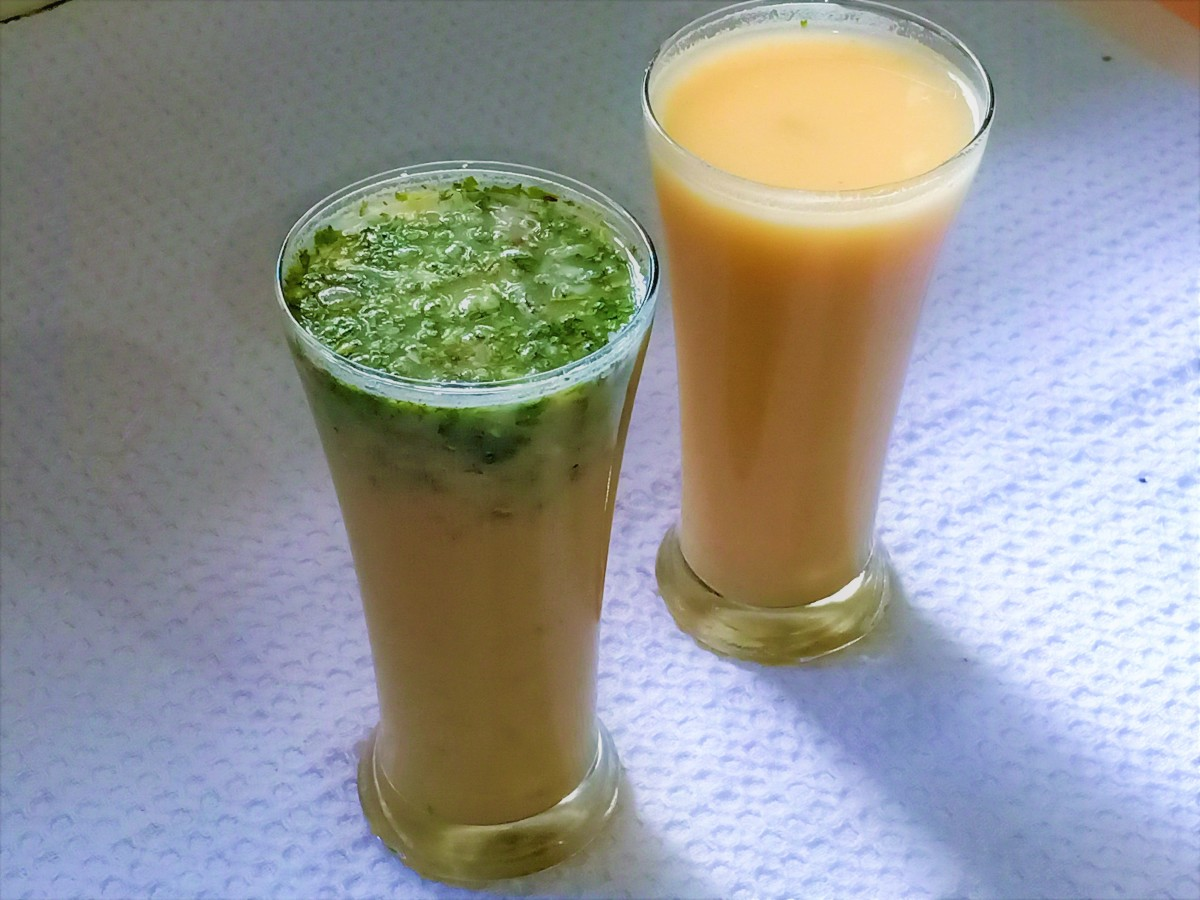 Learn to make both types of sattu drinks: salty and sweet