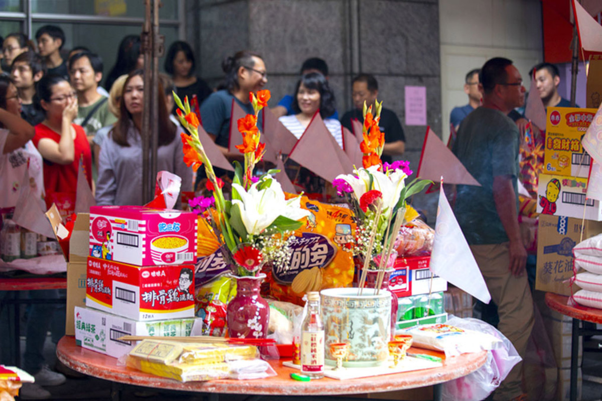 Many Chinese companies conduct Zhongyuan Jie celebrations. The many food items bought are also thereafter distributed to participating employees.