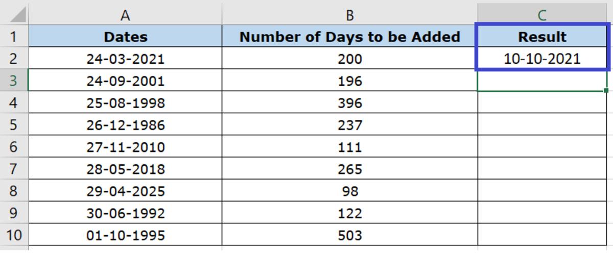 Formula Result in Date Format
