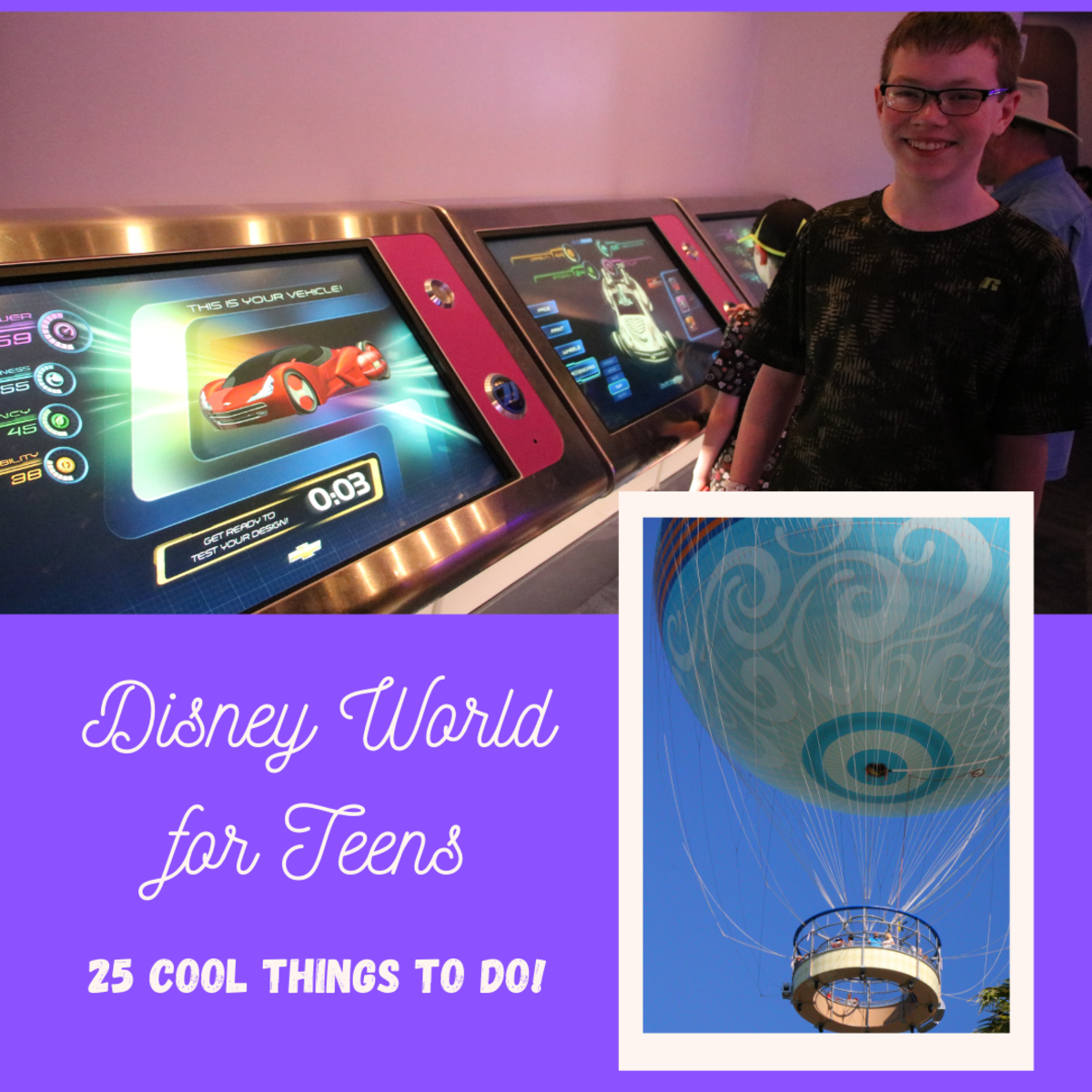 Disney World is not just for little kids - there are many fun activities for teenagers throughout the theme parks and resort hotels.