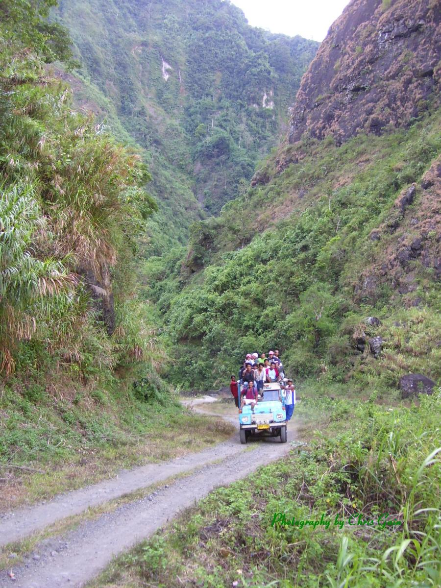 Batong Buhay jeepney near the start of its 5-hour journey to Tabuk, capital of Kalinga province.