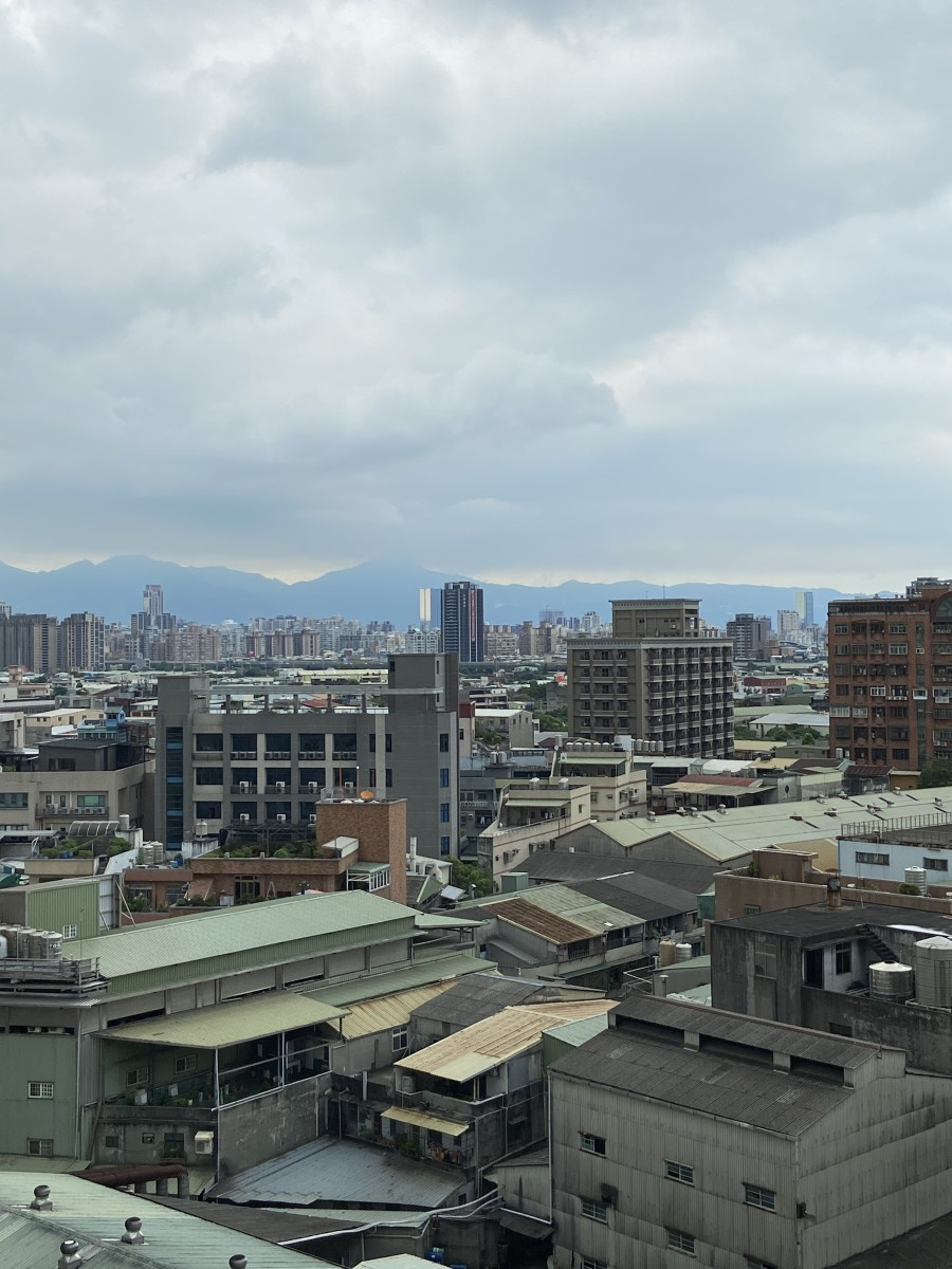 The view from my hotel room! We are staying on the tenth floor in the Xinzhuang District