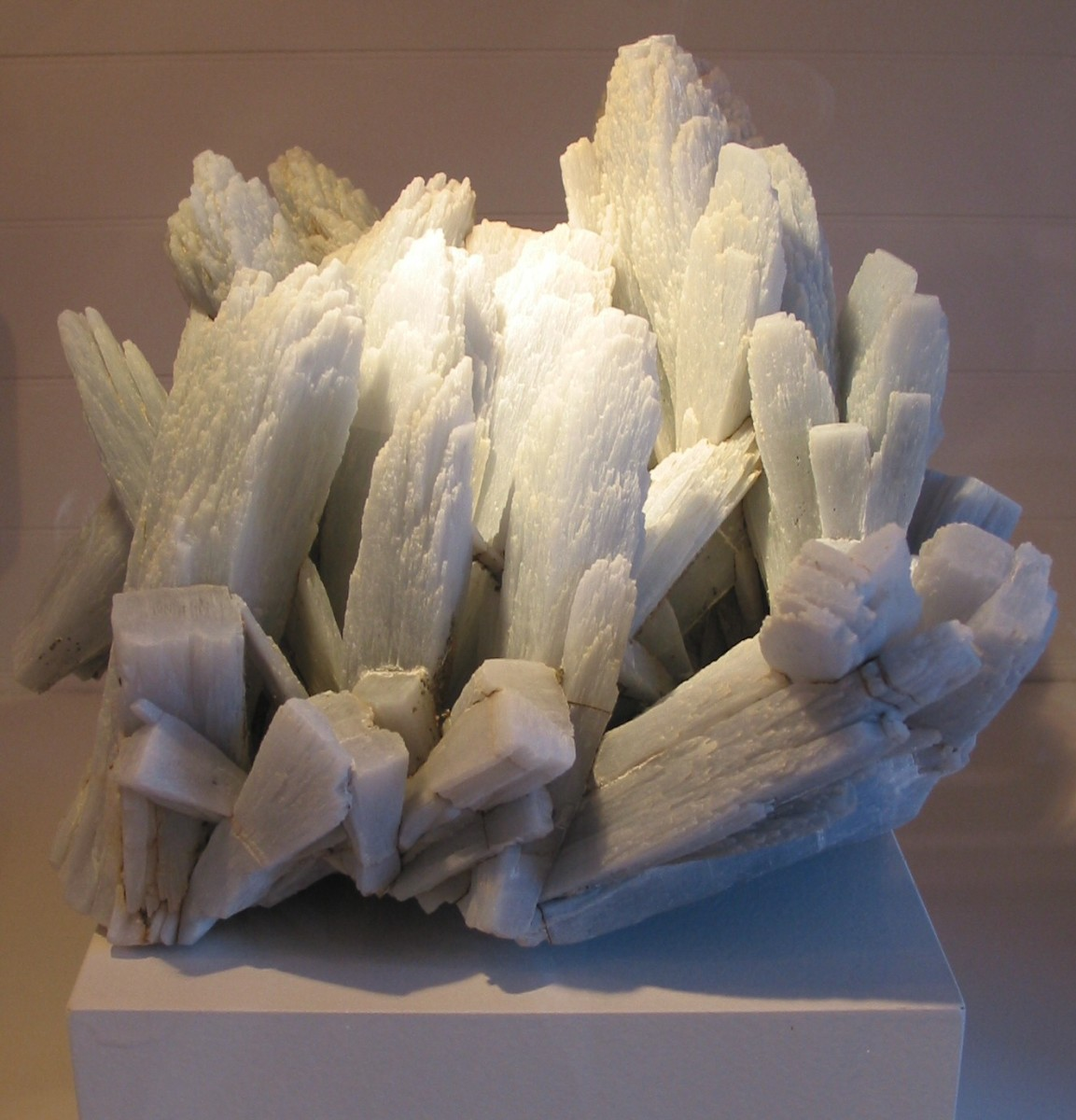 Anhydrite is a clear, blue, or gray stone that is typically only found in special stores located in Italy.