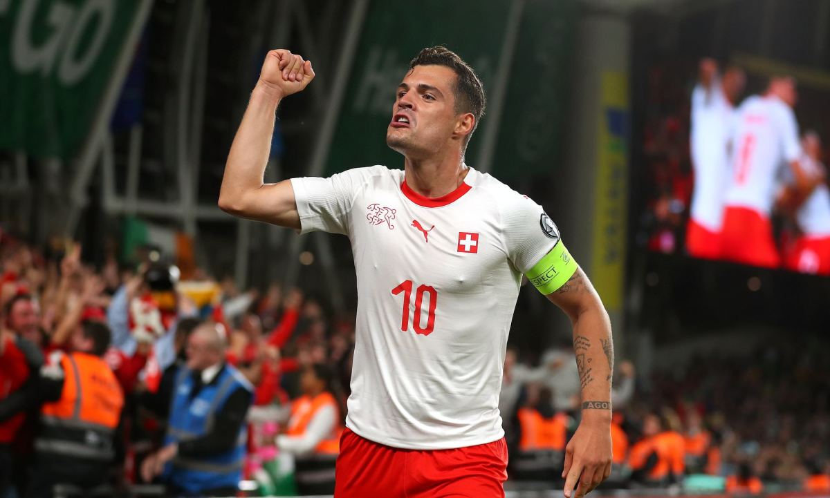 Granit Xhaka will spearhead the defensive effort of this Swiss lineup.