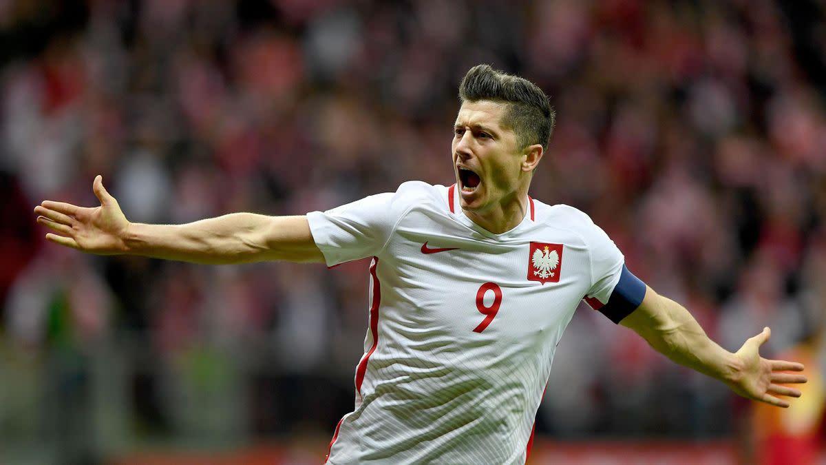 Robert Lewandowski will aim to add to goal tally of 50 goals for Poland.