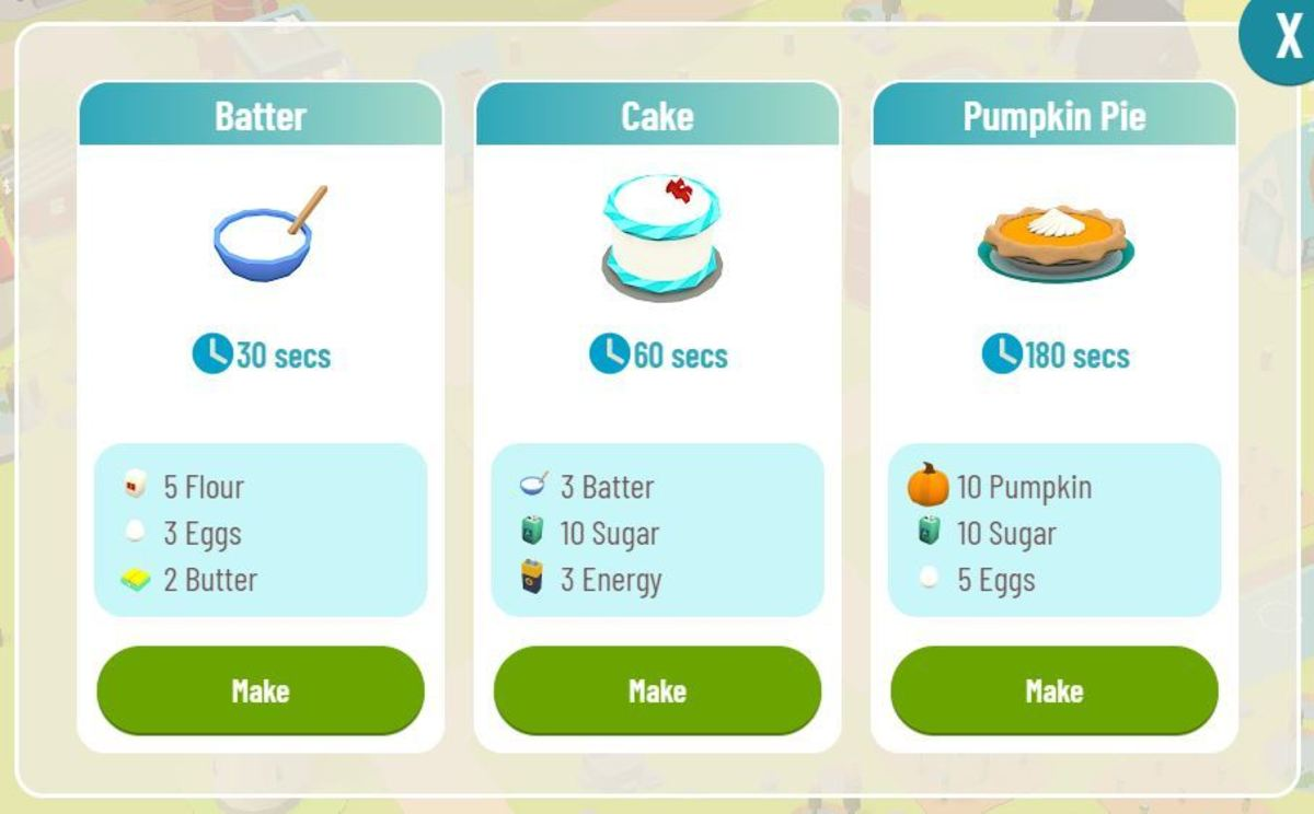 Ingredients for batter, cake and pumpkin pie in the cakery