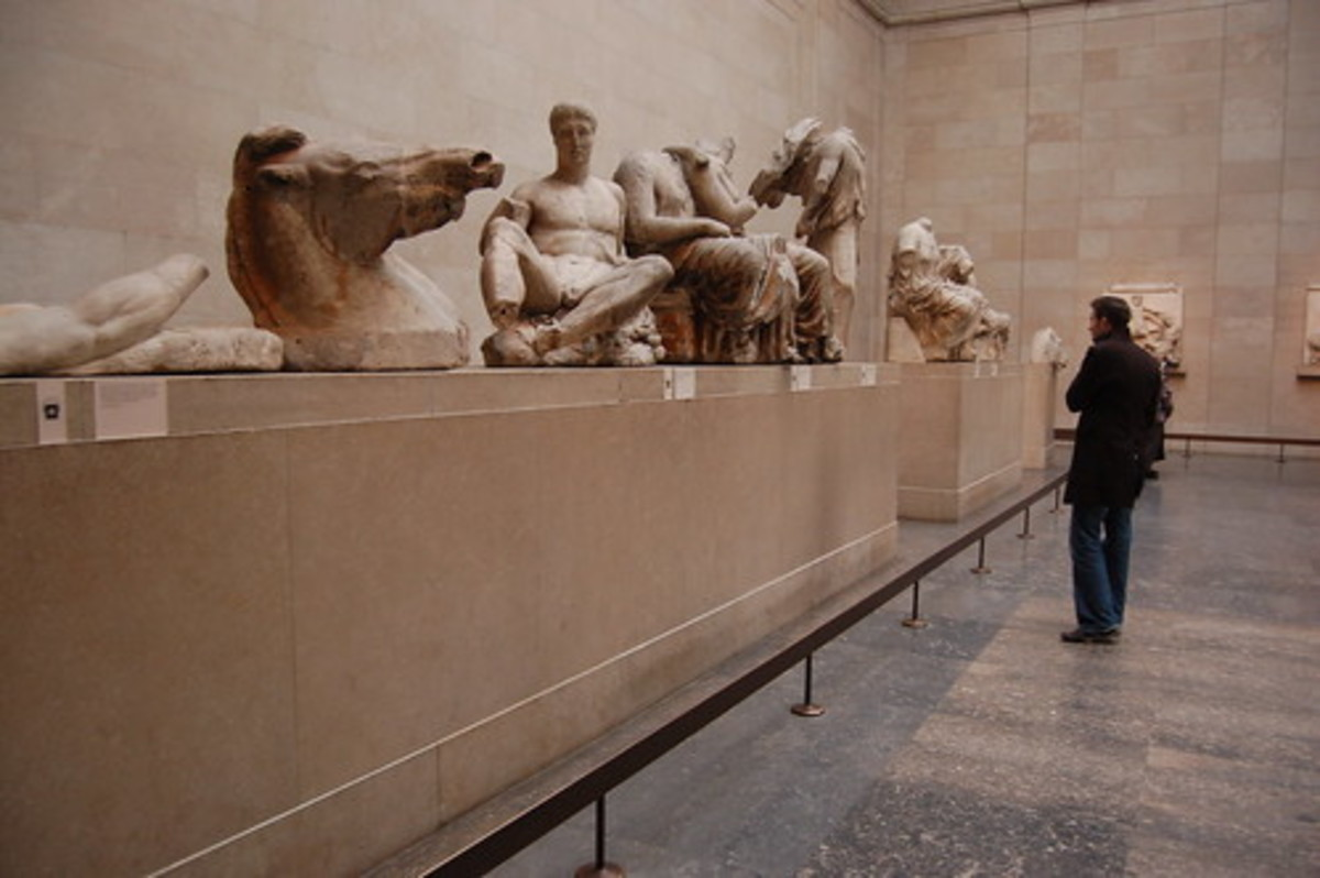 Part of the Parthenon Sculptures in the British Museum collection.