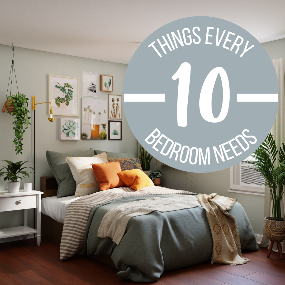 These ten items are must-haves for a cozy bedroom.