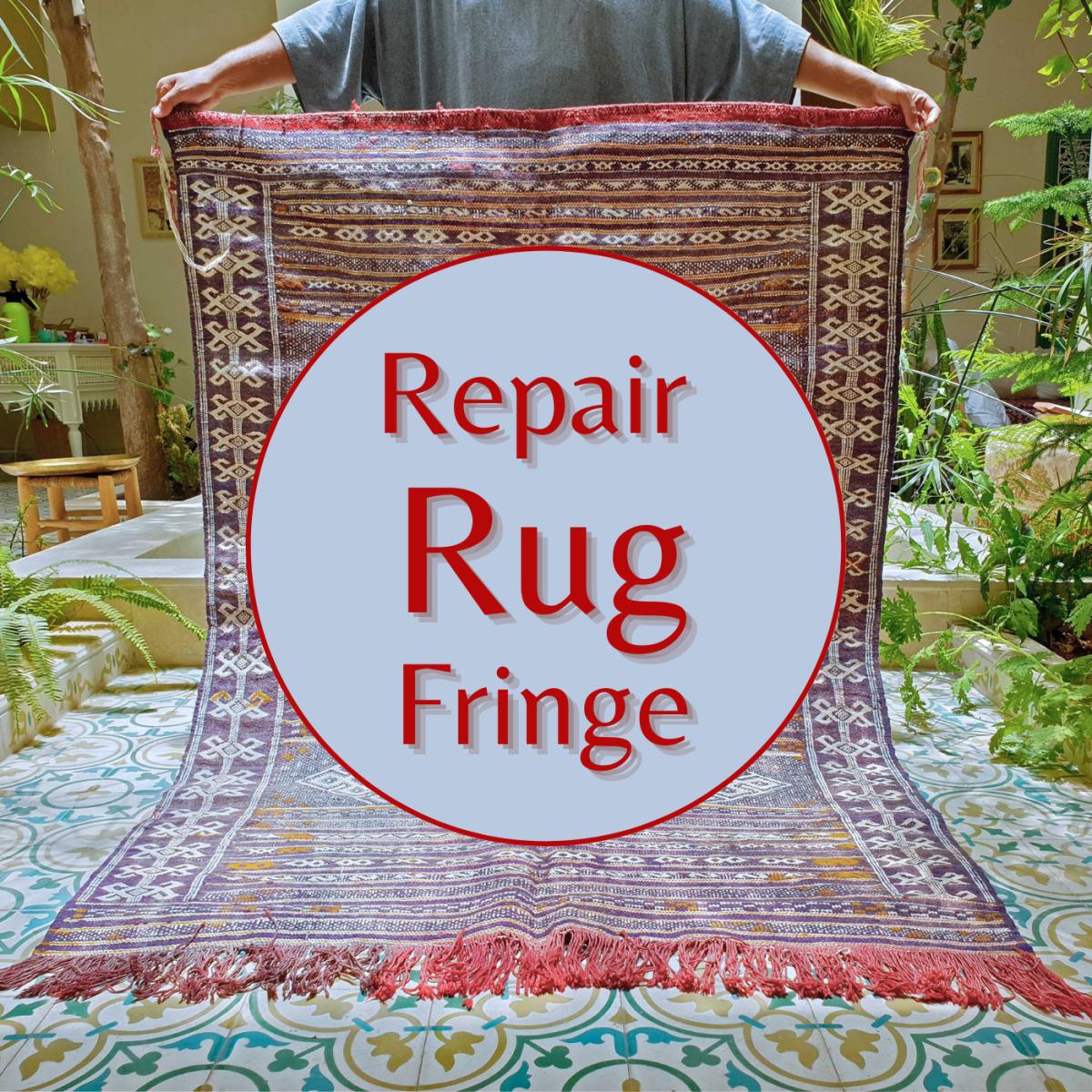 Learn how to repair rug fringe.