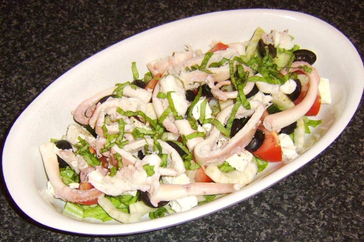 Poached Octopus Greek Seafood Salad