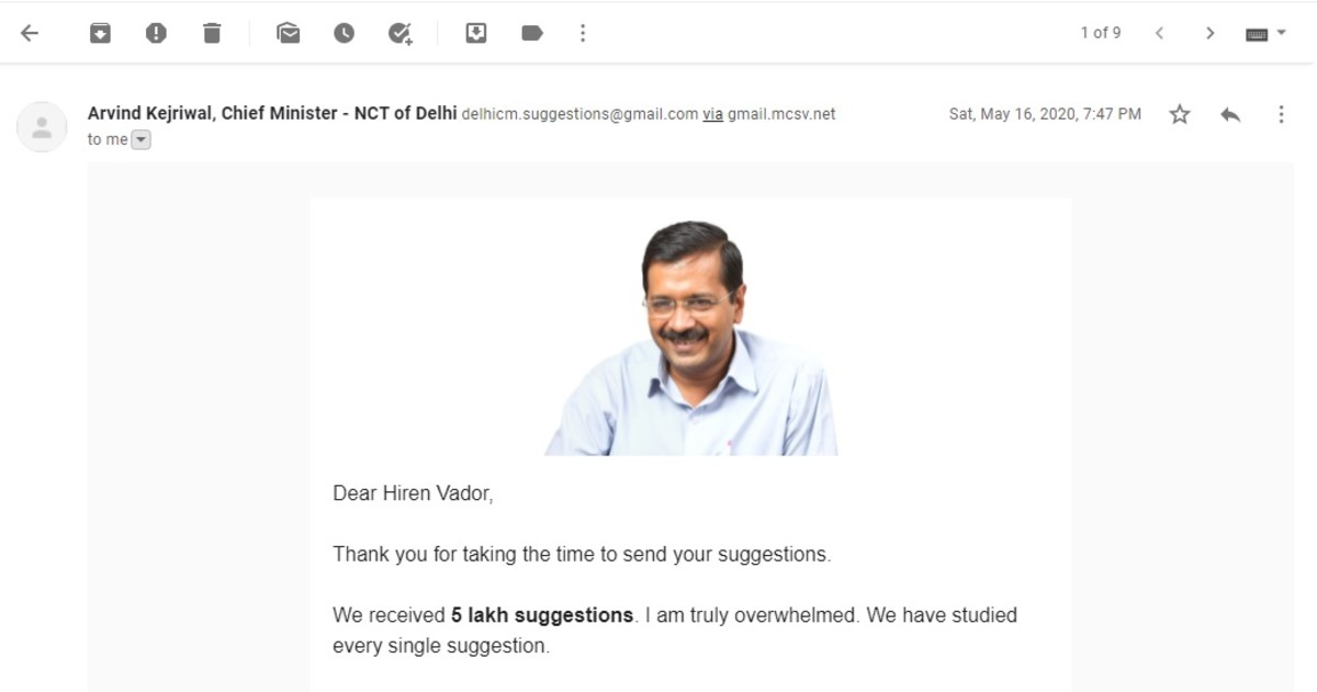 Connecting with Delhi CM