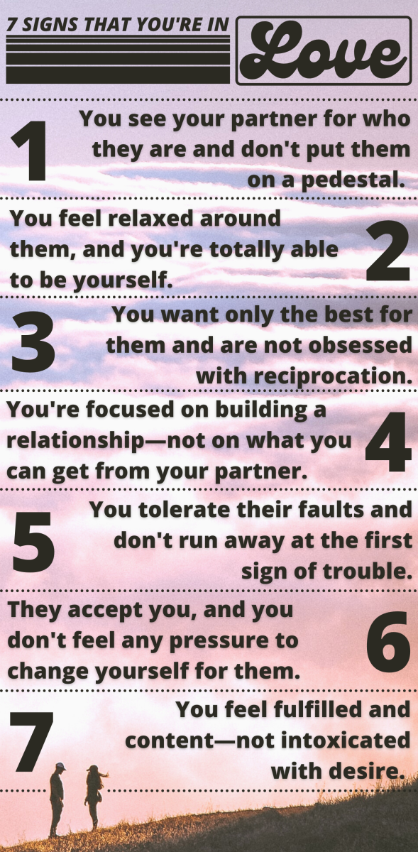If you're not quite sure whether you're in love, here are a few ways to tell.