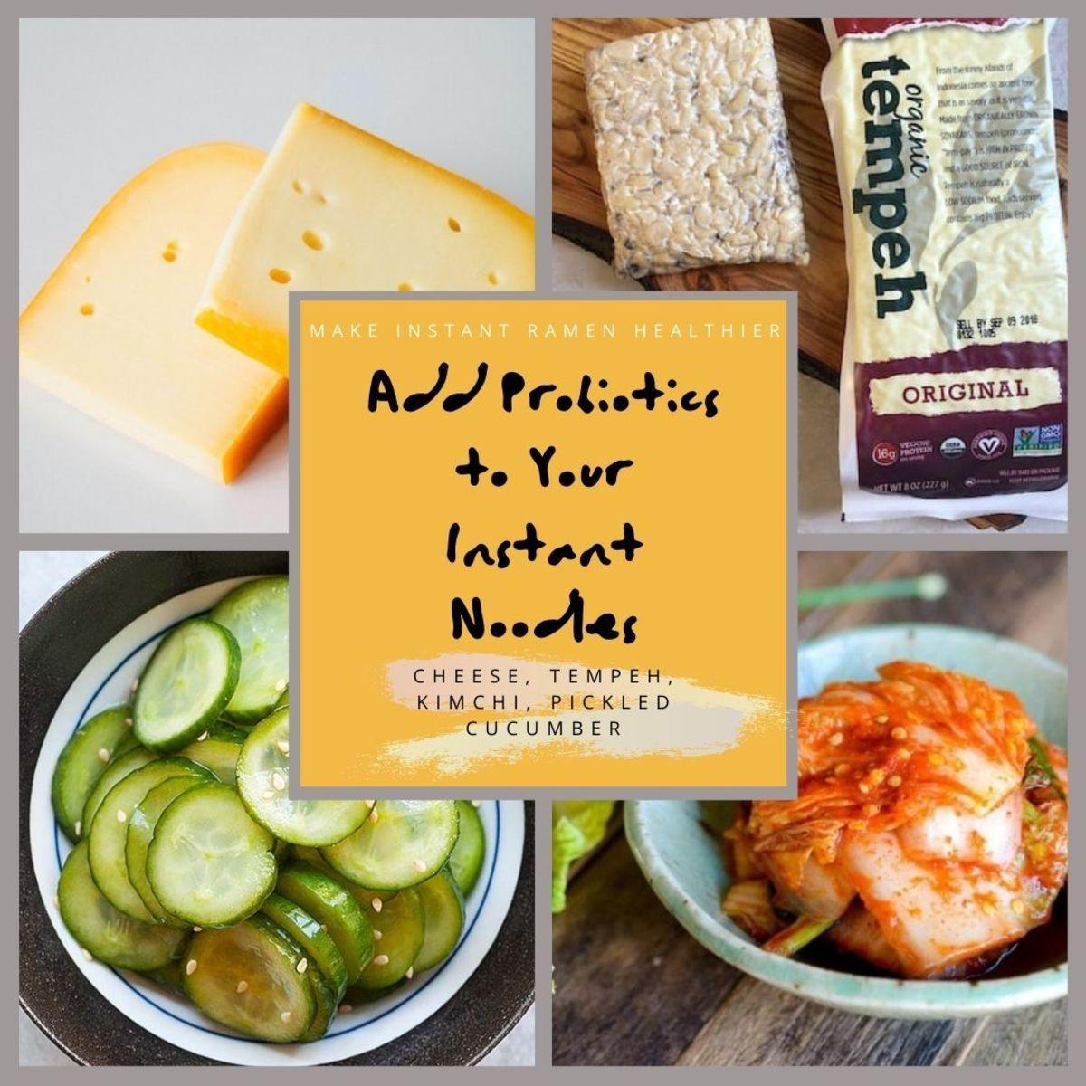 Make instant ramen better and healthier with probiotics