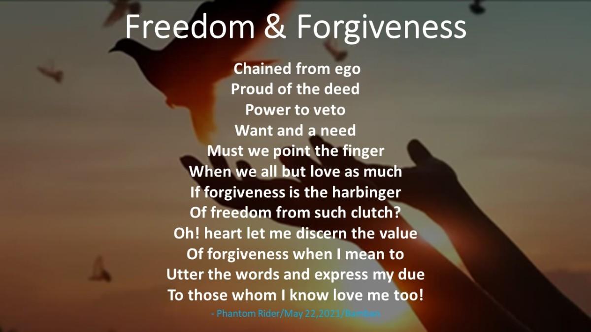 Freedom & forgiveness