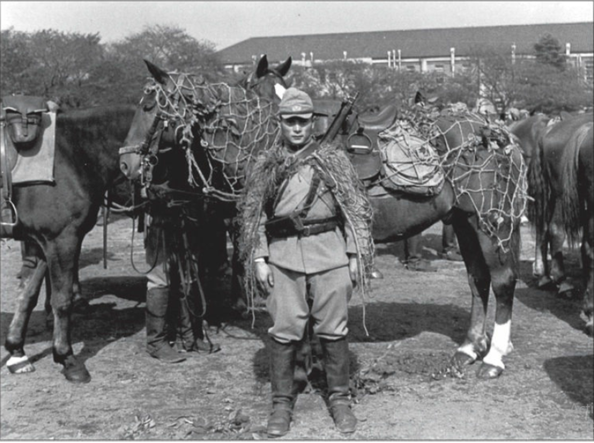 A Japanese cavalry trooper