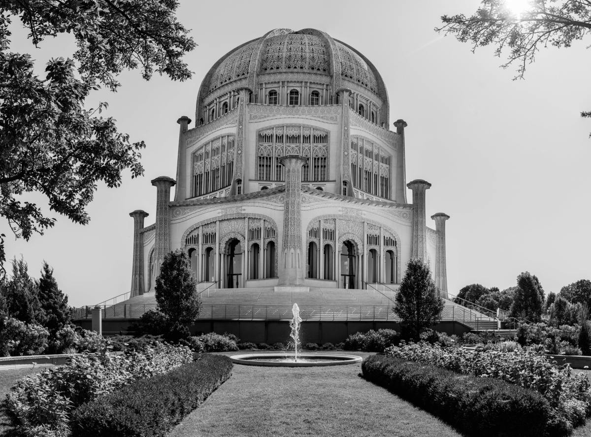 Baha'i House of Worship in Wilmette, Illinois, USA