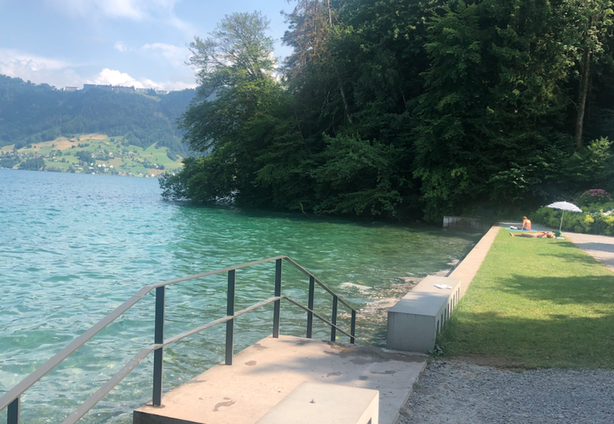 Greenish Blue water is beauty of Lake