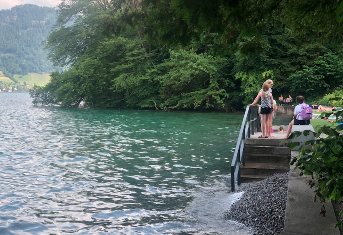 Visitors enjoying at Lake