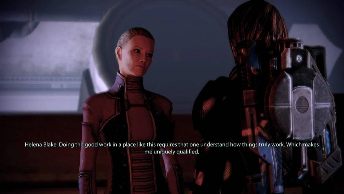 "Helena Blake has a change of heart in ""Mass Effect 2."""
