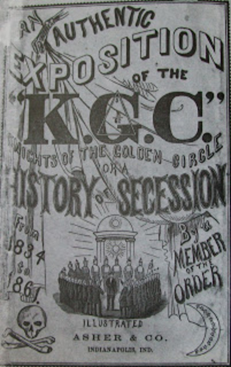 The Knights of the Golden Circle (KGC) was a pro-slavery secret society in the mid-nineteenth-century United States. The original objective of the KGC was to annex a golden circle of territories in Mexico (which would be divided into 25 slave states)